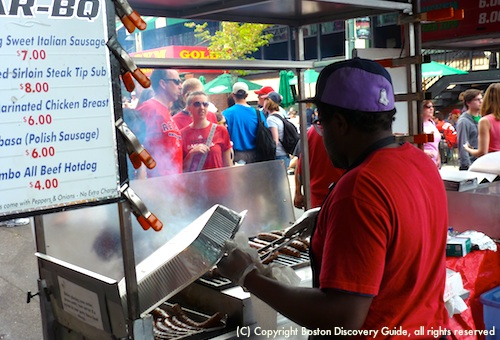 Fenway Park - best place to try Fenway franks, kielbasa, sweet Italian sausage cooked on grills outside the ballpark