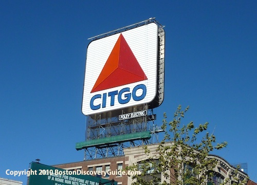Photo of Citgo sign in Boston's Fenway neighborhood