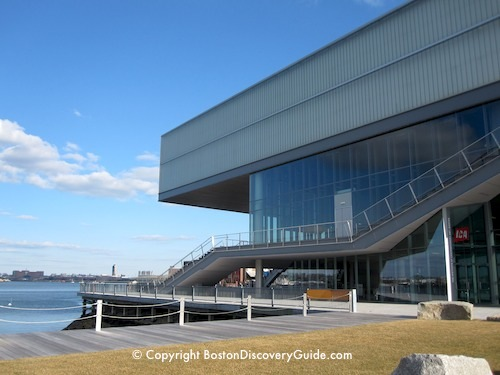 Photo of Boston's Institute of Contemporary Art in the South Boston Waterfront neighborhood