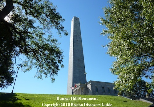 Photo of Bunker Hill in Charlestown MA on Boston's Freedom Trail