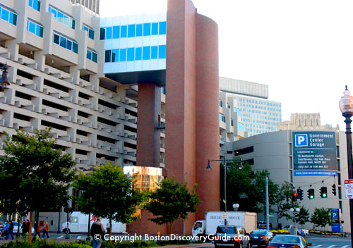 Boston's Government Center Parking Garage near the North End and Faneuil Hall