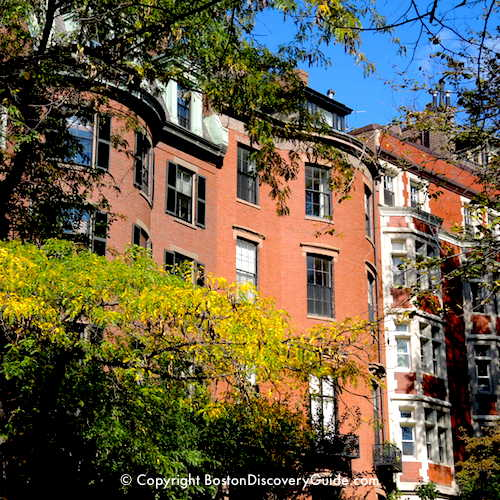 Boston neighborhoods:  Beacon Hill mansions