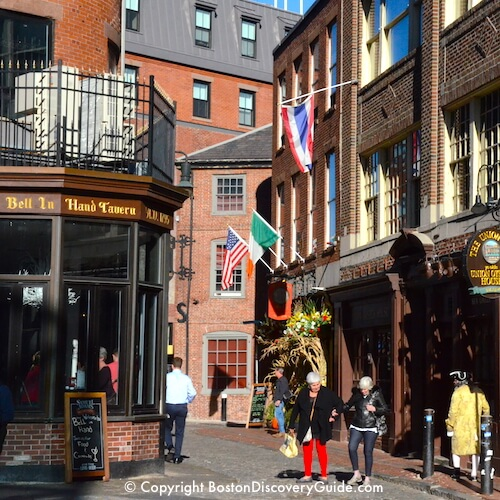 Boston neighborhoods:  historic taverns in the oldest part of the city