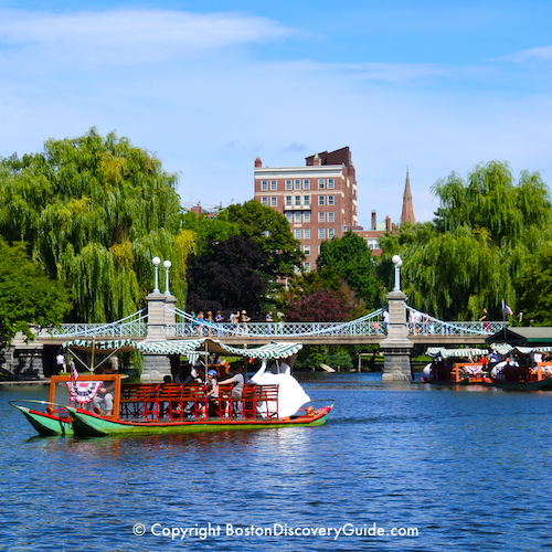 Boston neighborhoods attractions map boston discovery guide Boston public garden map