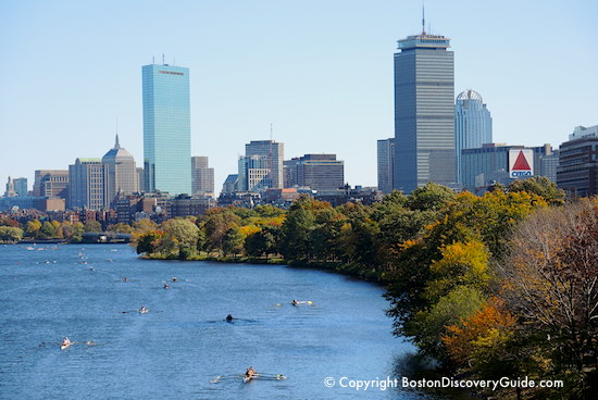 Boston October events include great foliage, as shown in photo