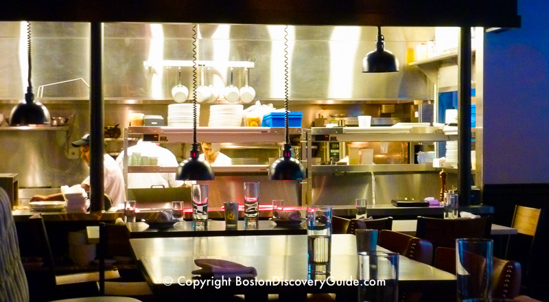 Open Kitchen At Abby Lane In Boston S Theatre District