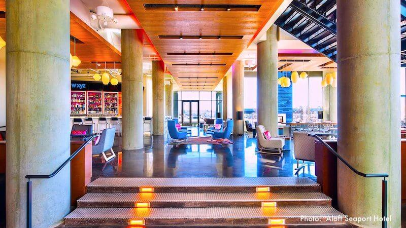 Lounge at Aloft Seaport