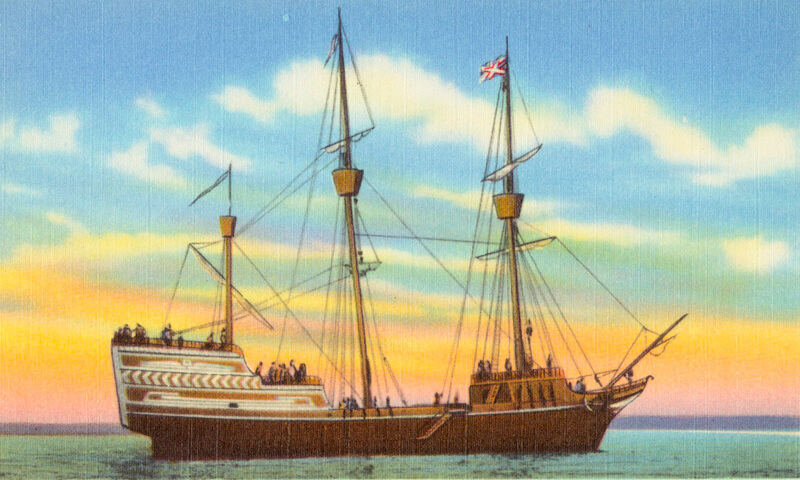 The Arabella, one of the Puritans' ships