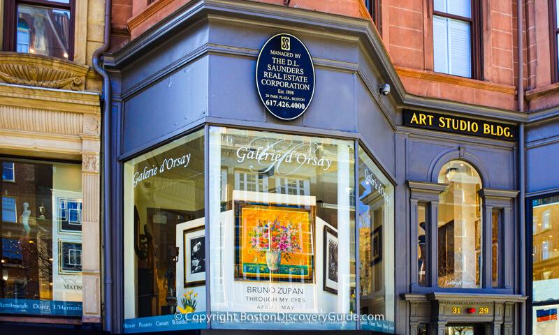 Galerie d'Orsay on Newbury Street in Boston