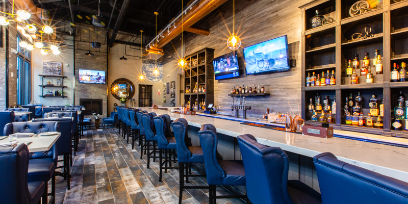Super Bowl Sunday in Boston:  Big screens at La Cucina in Assembly Row