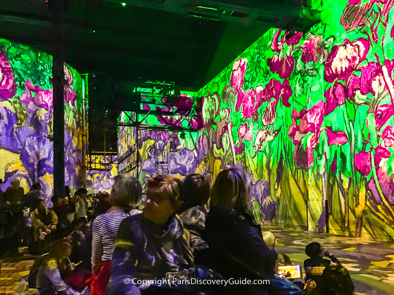 Imagine Van Gogh at Atelier des Lumieres in Paris (photo courtesy of our sister website, Paris Discovery Guide)