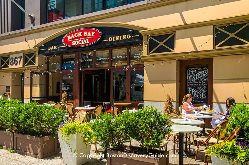 Sidewalk dining at Back Bay Social Club in Boston