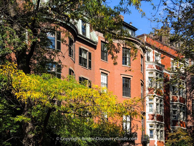 Boston neighborhoods:  Beacon Hill mansions