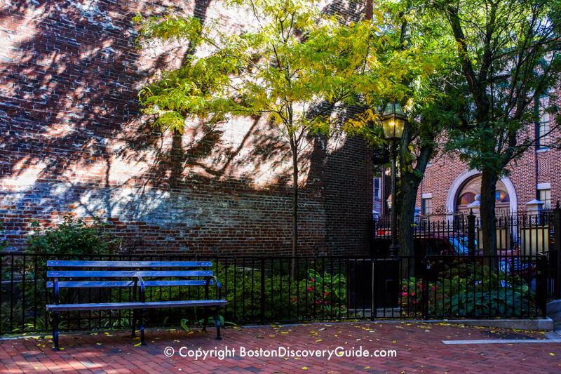 Phillips Street Park across from Boston's Vilna Shul