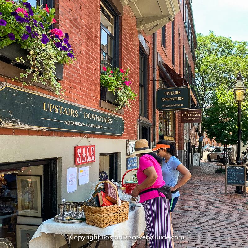 Fall colors in Boston's Beacon Hill neighborhood