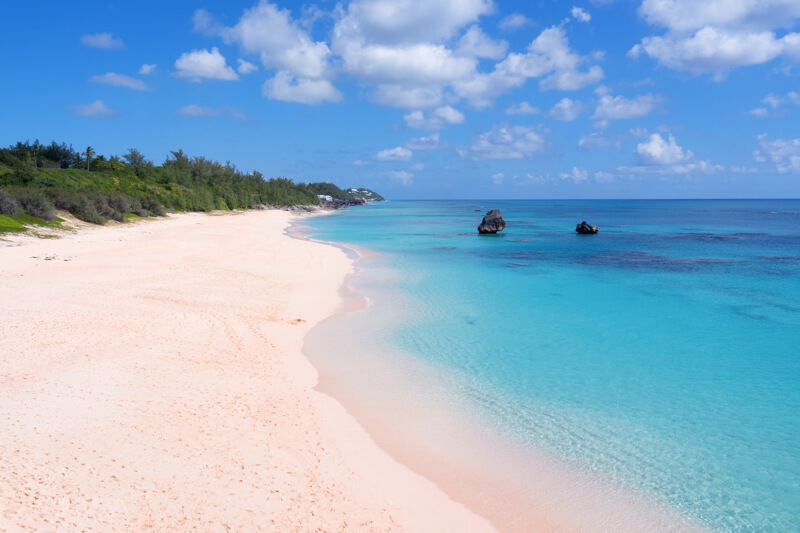 Pink sand beach in Bermuda - a popular cruise destination from Boston