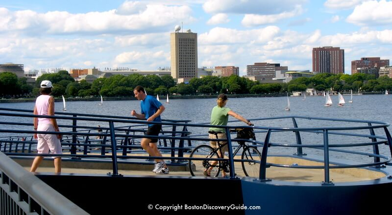 Mass Ave ramp to the Esplanade along the Charles River