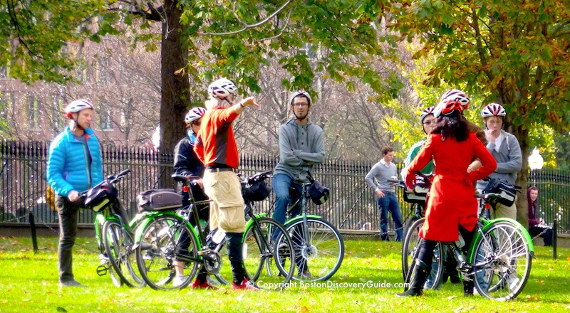 Bike tour on Boston Common