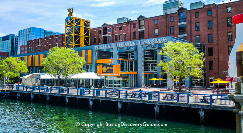 Boston Children's Museum overlooking Fort Point Channel
