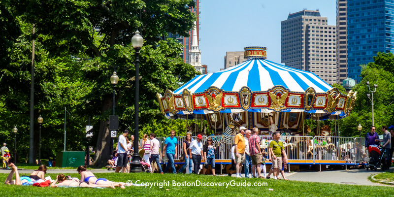 Carousel on Boston Common on Memorial Day Weekend