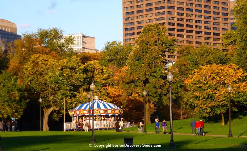 Carousel on Boston Common - Mid-October