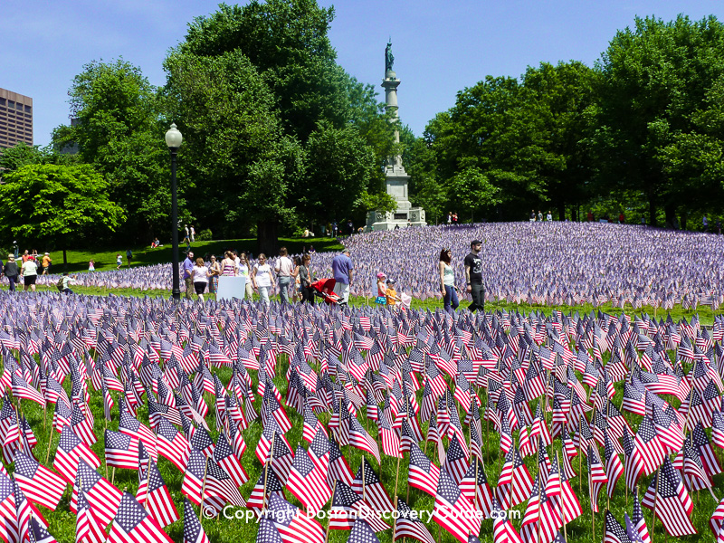 Garden of Flags on Boston Common on Memorial Day
