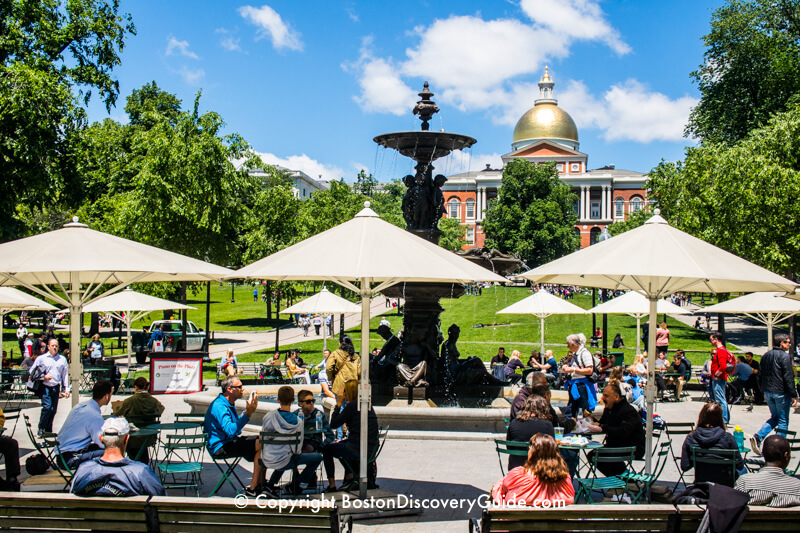Relaxing on Boston Common in June