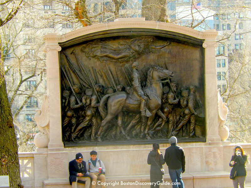 Robert Gould Shaw and 54th Massachusetts Regiment Memorial, the beginning of the Black Heritage Trail