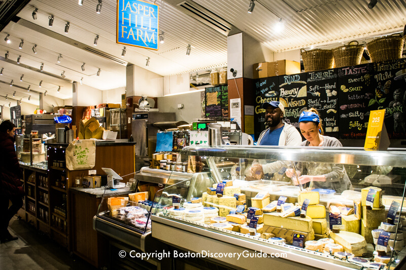 Local cheeses on offer at Boston Public Market