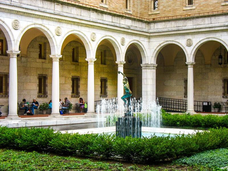 Boston Public Library courtyard garden