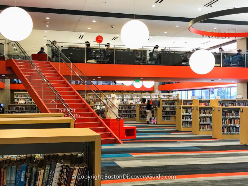 Boston Public Library  - Johnson Building interior view