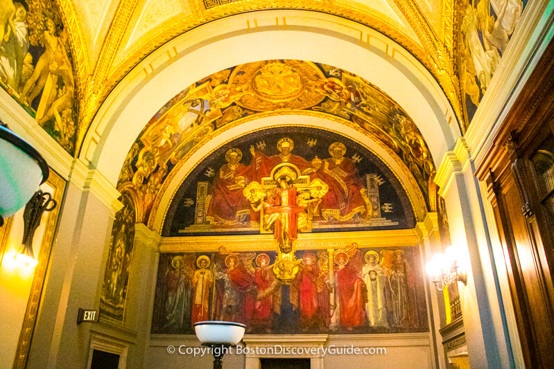 Boston Public Library - Sargent Murals close-up view