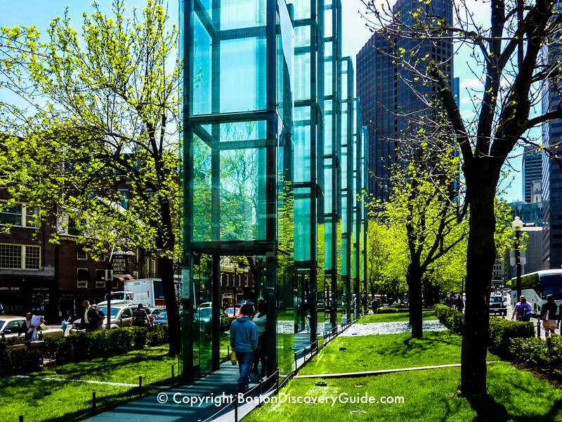 Carmen Park and the New England Holocaust Memorial in Boston during April