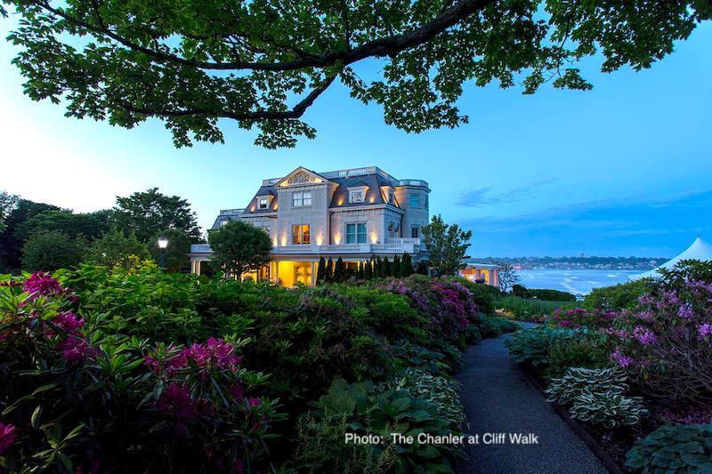 Lush gardens at The Chanler at Cliff Walk