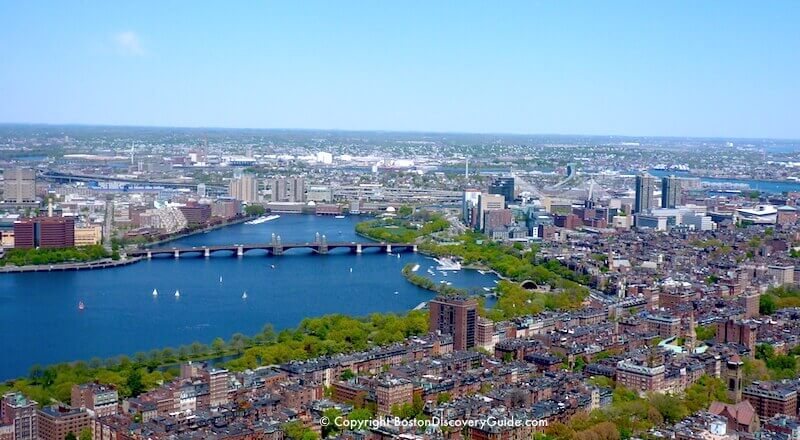 Charles River photographed from Prudential Skywalk