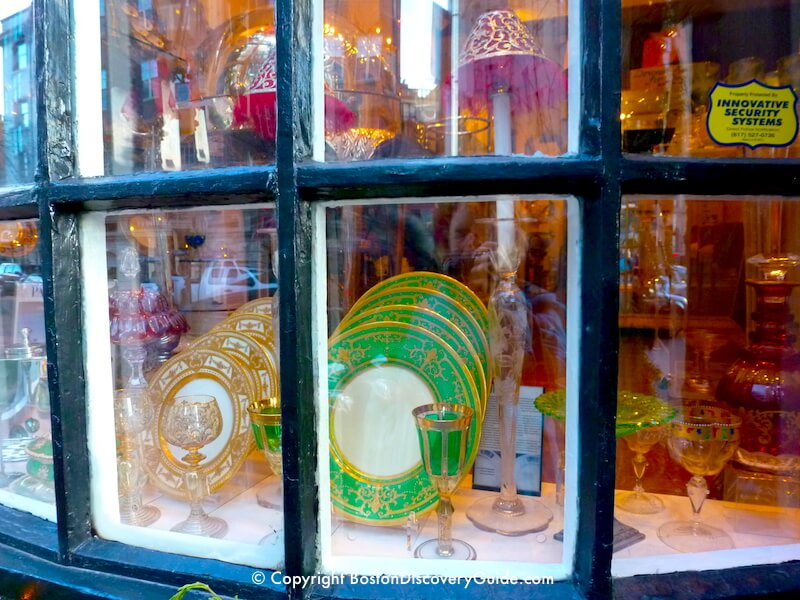Antique and vintage china and glass in Charles Street boutique