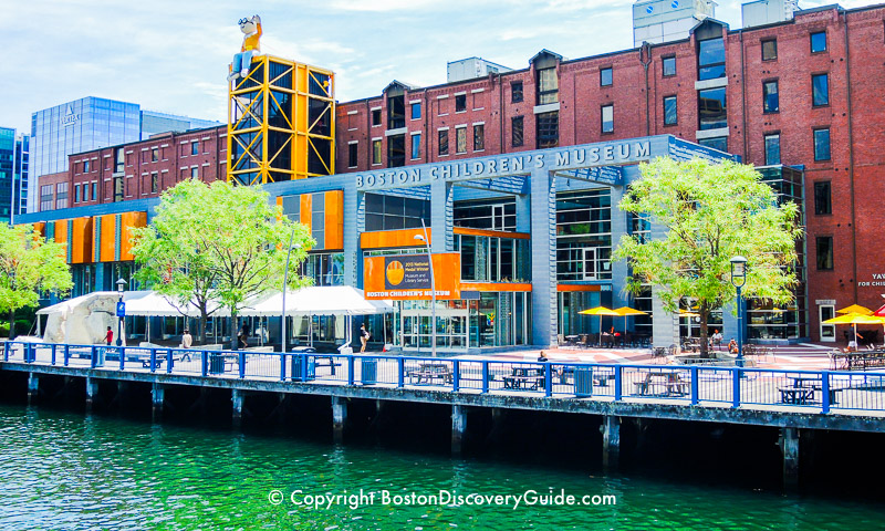 Boston Children's Museum on Fort Point Channel in the South Boston Waterfront neighborhood