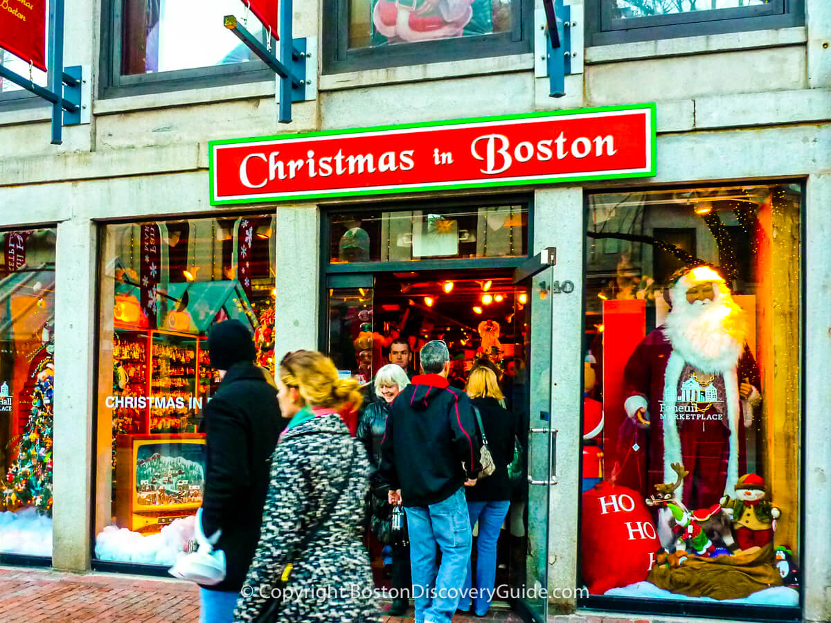 Christmas in Boston in Faneuil Marketplace