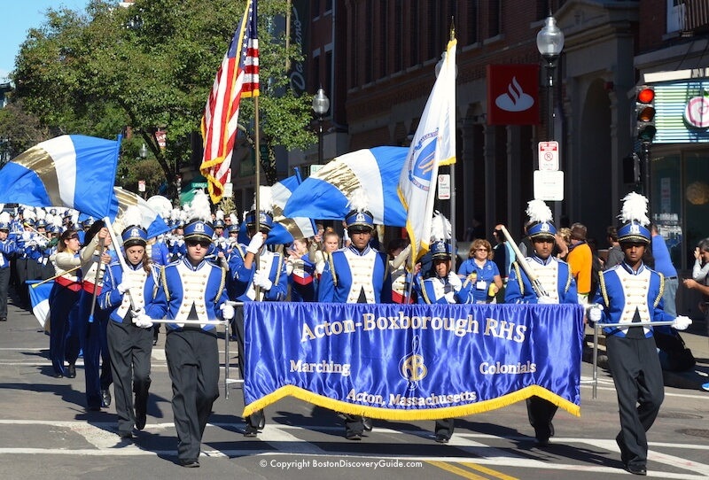 Columbus Day Parade in Boston's North End neighborhood