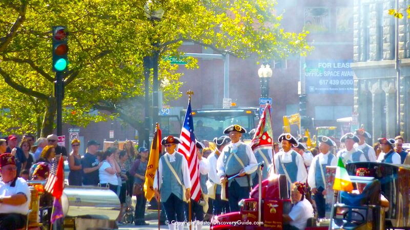 Boston Columbus Day parade - Colonial militia