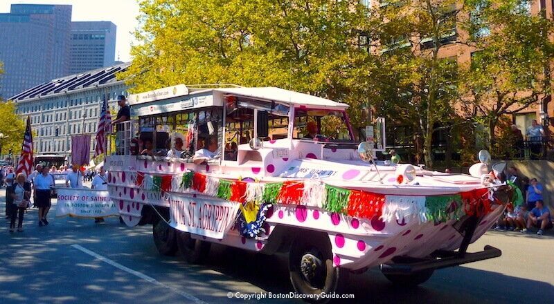 Float in the Columbus Day Parade through Boston's North End neighborhood