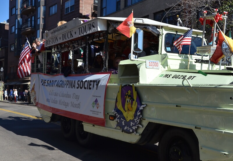 Columbus Day Parade in Boston - St Agrippina Society Float