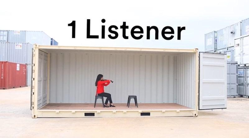 1 Musician, 1 Listener concert
