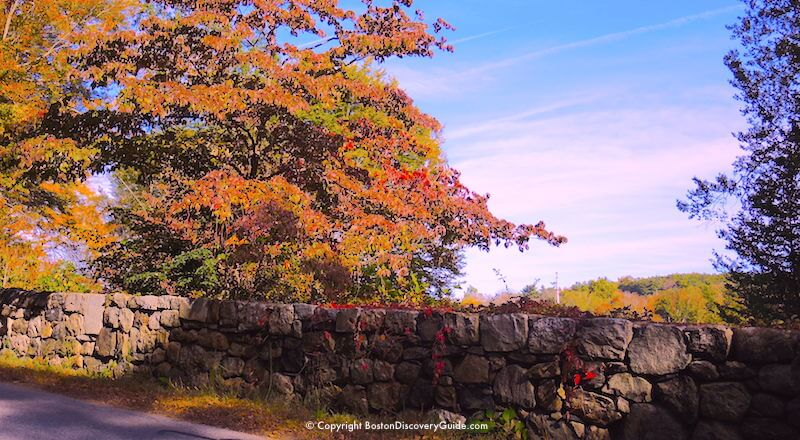 New England fall foliage - Concord, MA, stop on foliage tours from Boston