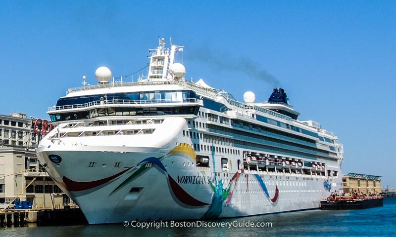 Cruise ship at Boston's cruiseport