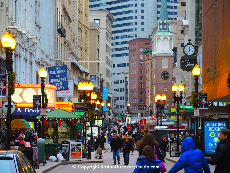 Holiday Shopping In Boston Boston Discovery Guide