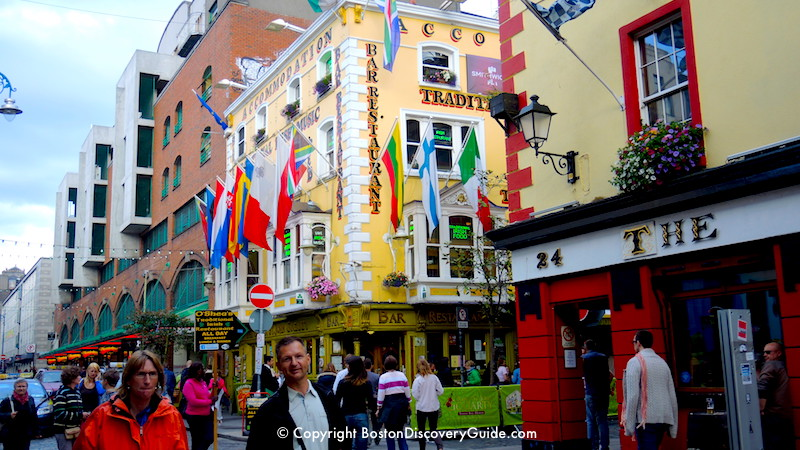 Dublin, Ireland - A popular Port of Call on cruises from Boston to Europe