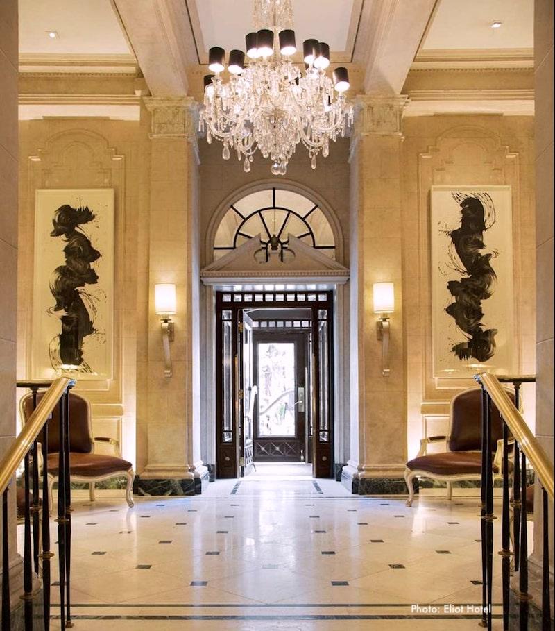 Eliot Hotel lobby