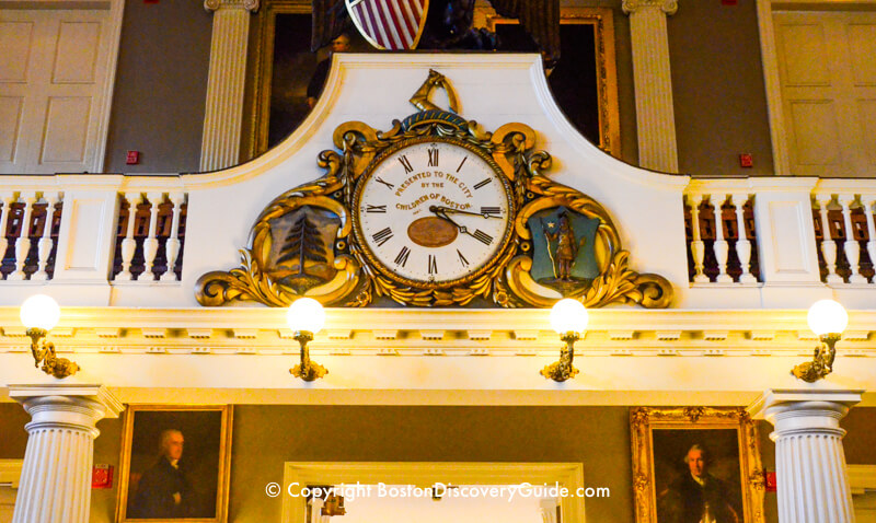 Clock in Faneuil Hall