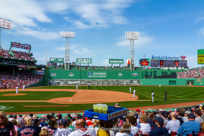 Boston Red Sox play the Tampa Bay Rays at Fenway Park on a gorgeous April afternoon
